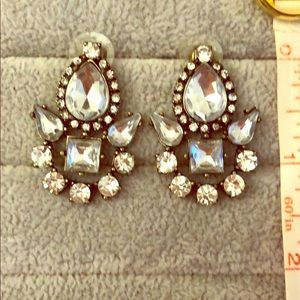 Bauble Bar crystal silver color bridal earrings